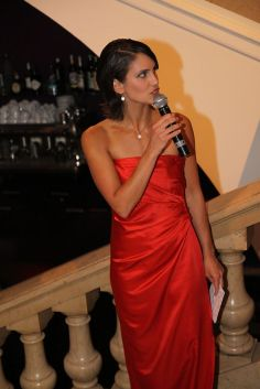 """Event host for """"Miss Frankfurt Competition""""."""