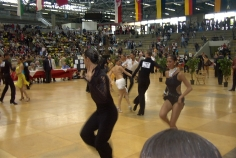 """Me and my brother at the Latin ballroom dance competition, """"Hessen Tanzt""""."""