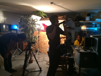 Andreas Stanik making sure we have good sound ;)