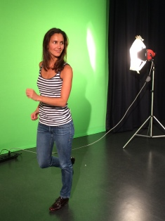 Me getting ready for the green screen.