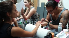 Getting the nails done by the most talented nail designer Vincenzo Russello.