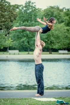 Acro Yoga in London.